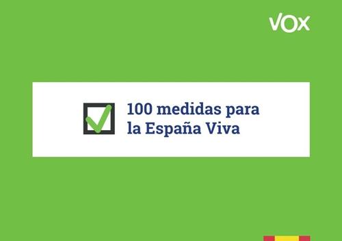100 medidas para la españa viva de vox